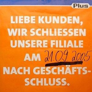 PLUS-Plakat