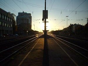 Sonnenaufgang am Fürther Hauptbahnhof