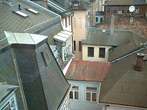 Hinterhauslandschaft an der Karolinenstraße