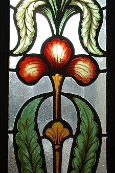 Bleiglasfenster im Rathaus