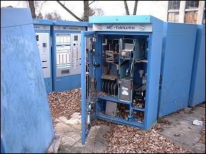 Ausgemusterte Fahrkarten-Automaten des MVV