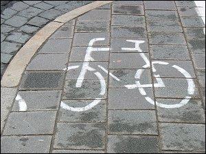 Radweg-Markierung
