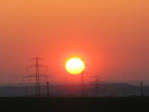 Sonnenuntergang bei Erfurt