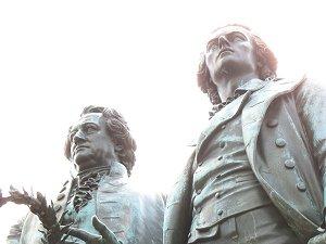 Goethe und Schiller-Denkmal in Weimar