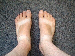 Des zonebattler's Füße