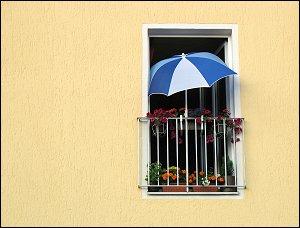 Ist der Balkon auch noch so klein...