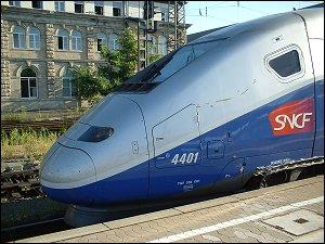 Französischer TGV in Nürnberg Hbf