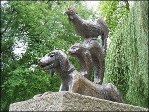 Bremer Stadtmusikanten in Bronze