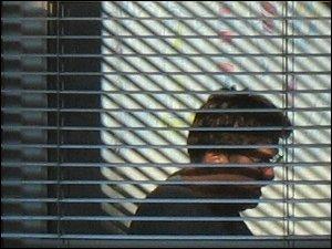 Mann im Schatten