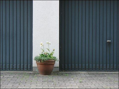 Hinterhof mit Garagen (Fürth, Ohmstraße)