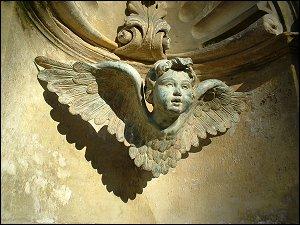 Steinerner Engel in Stein bei Nürnberg