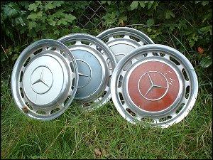 Mercedes Radkappen auf dem Flohmarkt