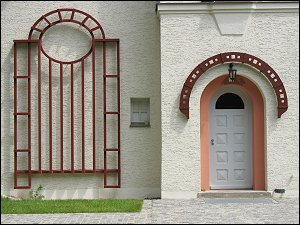Eingang des Stadtgärtnerhauses am Stadtpark