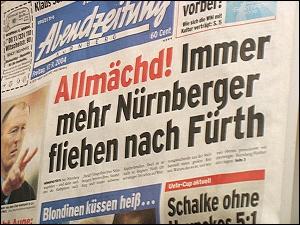 Schlagzeile der Abendzeitung