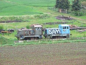 ausgemusterte Diesel-Loks in Thüringen
