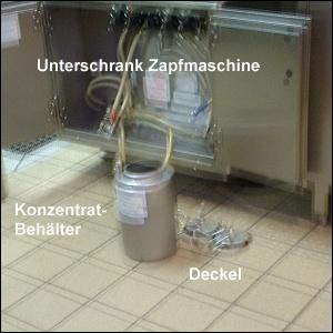geöffnete Milchshake-Maschine