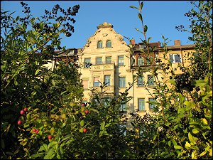 prächtige Hausfassade jenseits der Gebhardtstraße
