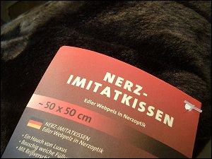 Nerz-Imitatkissen