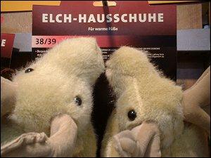 Elch-Hausschuhe