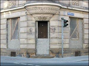 Umbau an einem Eckhaus an der Nürnberger Straße