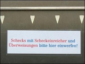 Bankbriefkasten in Neumarkt (Oberpf.)