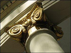 Detail an einem Pavillon im Bayreuther Hofgarten