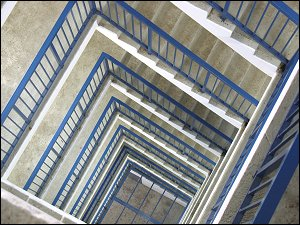 Wendeltreppe des Aussichtsturmes Alte Veste in Zirndorf