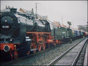 Lokparade 1985 in Fürth (Bay) Hbf