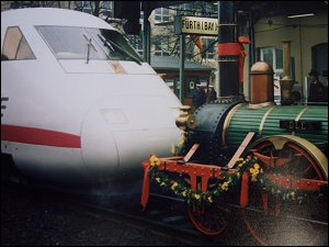 Lokparade 1985 in Fürth (Bay) Hbf