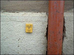 Gasschild in Fürth (Amalienstraße)