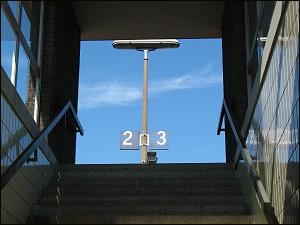 Bahnsteigaufgang im Bahnhof Nürnberg Ost