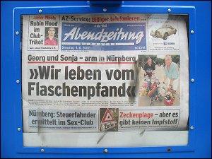 Schlagzeile der 'Abendzeitung'