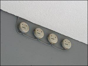 irgendwelche Elektro-Dinger an einem Nürnberger Geschäftshaus