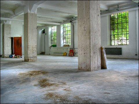 Untergeschoß einer ehemaligen Fabrik, Nürnberg-Gostenhof
