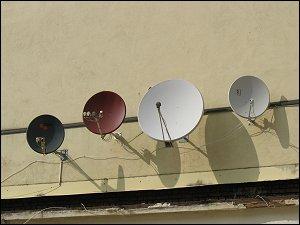 Satellitenschüsseln in Nürnberg-Gostenhof