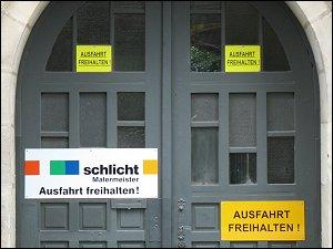 Gebotsschild in Fürth
