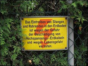 Verbotsschild in Forchheim (Oberfr)