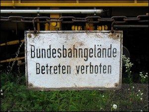 Verbotsschild in Fürth