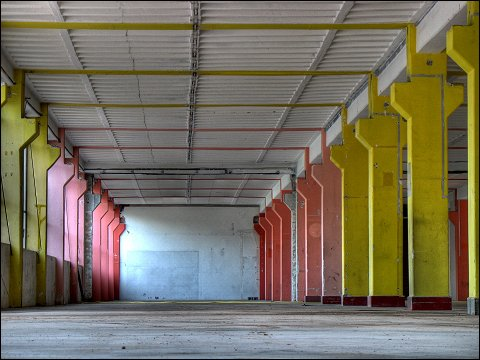 Erdgeschoß des ehemaligen Carrera-Werkes in Fürth