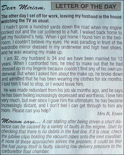 Leserinnenbrief an Frau Miriam