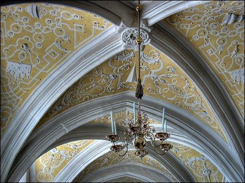 Zunftleuchter in einem Seitenschiff der Kirche St. Martin in Forchheim (Oberfr)