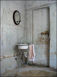 Eine minimalistische Waschgelegenheit