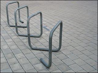 Fahrradständer am Nürnberger Südstadtpark