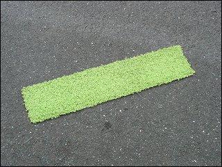 ein (womöglich notgelandeter?) Teppichrest in der Fürther Karlstraße