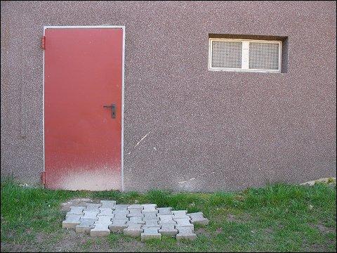 Hinterseite eines Sportheimes in Weierbach bei Idar Oberstein
