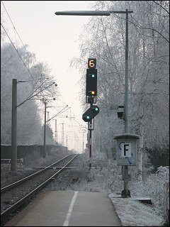 Ausfahrsignal H im Bahnhof Regensburg-Prüfening