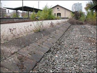 alte Schwellensteine am Fürther Güterbahnhof