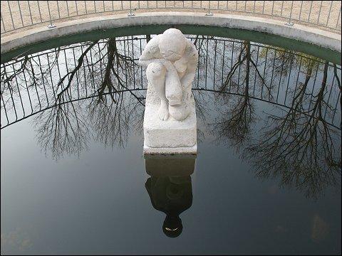 Brunnen im Schulgarten des Fürther Stadtparks