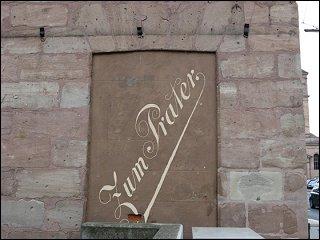 rekonstruierte Werbung am Haus Königstraße 115