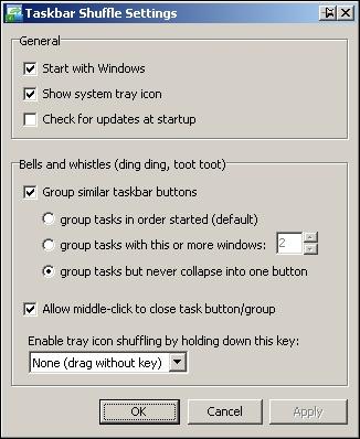 'Taskbar Shuffle' ermöglicht das freie Anordnen der Elemente in der Windows-Taskleiste